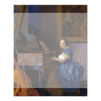 Woman Seated at a Virginal by Vermeer 11.5 Cm X 14 Cm Flyer