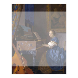 Woman Seated at a Virginal by Vermeer 21.5 Cm X 28 Cm Flyer