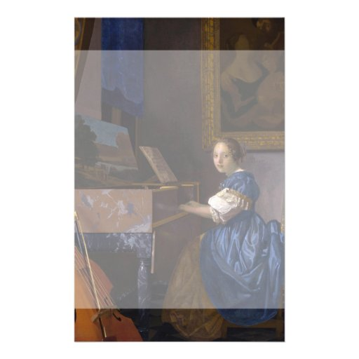 Woman Seated at a Virginal by Vermeer Flyer