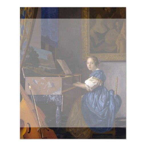 Woman Seated at a Virginal by Vermeer Full Color Flyer