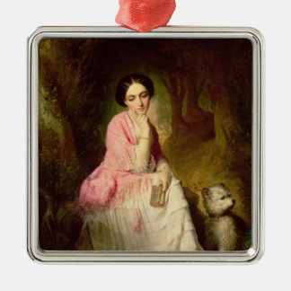 Woman Seated in a forest glade Christmas Ornament