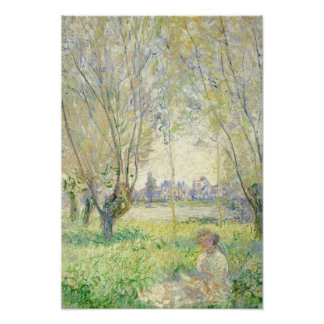 Woman Seated under the Willows - Claude Monet Poster