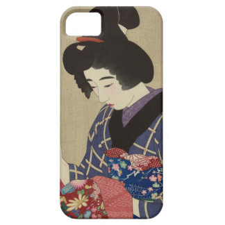 Woman Sewing Itō Shinsui - Japanese Woodblock iPhone 5 Covers