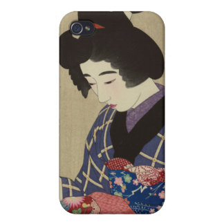 Woman Sewing Itō Shinsui - Japanese Woodblock iPhone 4 Covers