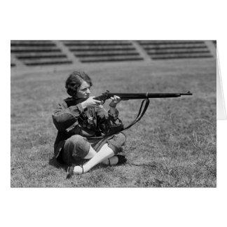 Woman Sharpshooter, 1920s Card