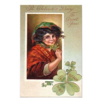 Woman Shawl Shamrock Four Leaf Clover Photograph