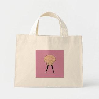 Woman shell mini tote bag