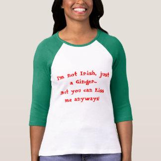 Woman shirt ginger vs irish