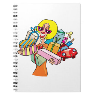 Woman Shopping Spiral Notebook