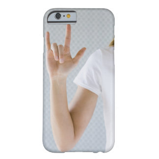 Woman signing I love you. Barely There iPhone 6 Case