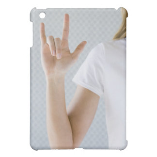 Woman signing I love you. iPad Mini Cases