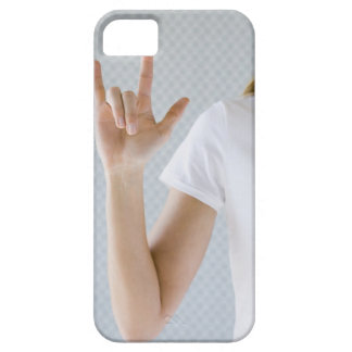 Woman signing I love you. iPhone 5 Cover