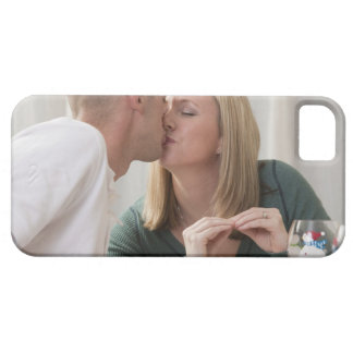Woman signing the word 'Kiss' in American Sign iPhone 5 Case