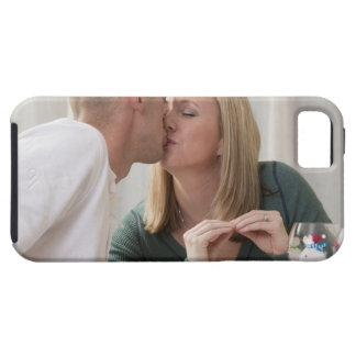 Woman signing the word 'Kiss' in American Sign Tough iPhone 5 Case