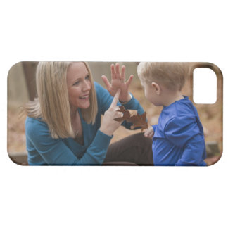 Woman signing the word 'Leaf' in American Sign iPhone 5 Case