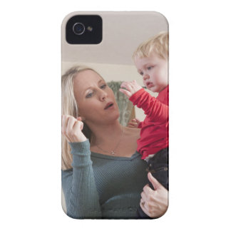 Woman signing the word 'Milk' in American Sign iPhone 4 Case-Mate Cases