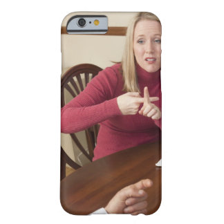 Woman signing the word 'Rent' in American Sign Barely There iPhone 6 Case