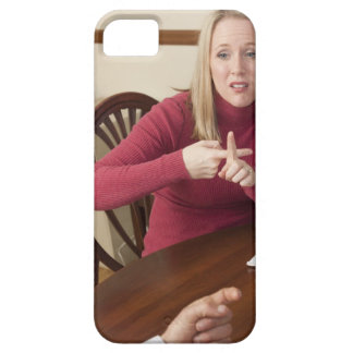Woman signing the word 'Rent' in American Sign iPhone 5 Cases