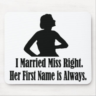 Woman silhoutte and funny sexist text. mouse pad