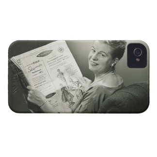 Woman Sitting in Chair Case-Mate iPhone 4 Cases
