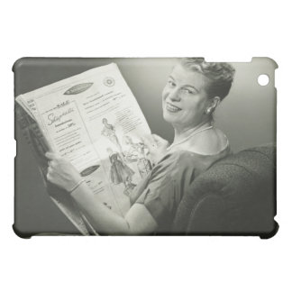 Woman Sitting in Chair Cover For The iPad Mini