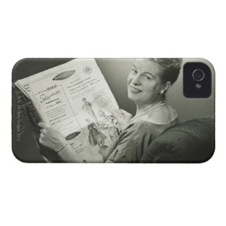 Woman Sitting in Chair iPhone 4 Case-Mate Case