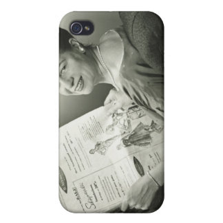 Woman Sitting in Chair iPhone 4 Cover