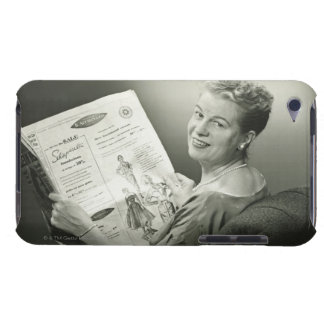 Woman Sitting in Chair iPod Touch Case