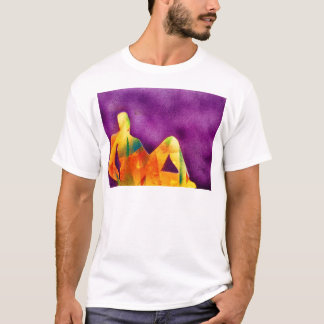 Woman sitting in sunlight T-Shirt