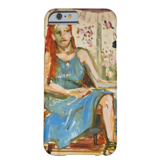 Woman Sitting Oil Painting iPhone case