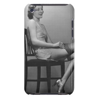Woman Sitting on Chair iPod Touch Cover