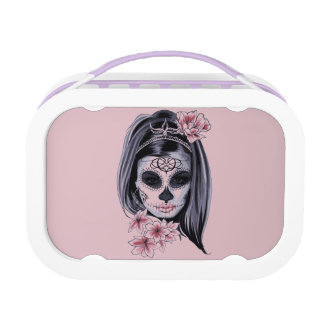 Woman skeleton mask lunch box