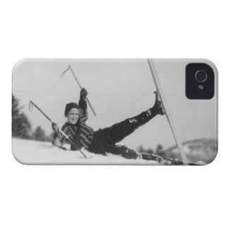 Woman Skier 2 iPhone 4 Case-Mate Case