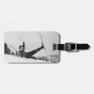 Woman Skier 2 Luggage Tag