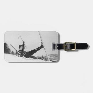 Woman Skier 2 Luggage Tag