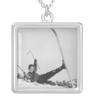 Woman Skier 2 Necklaces