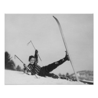 Woman Skier 2 Posters