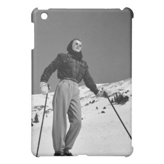 Woman Skier Cover For The iPad Mini