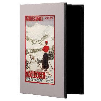 Woman Skier Overlooking Adelboden Poster iPad Air Case