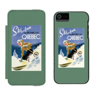 Woman Skiing - Both English and French Poster Incipio Watson™ iPhone 5 Wallet Case