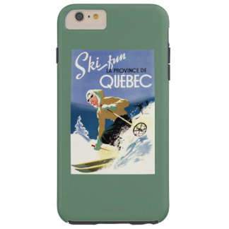 Woman Skiing - Both English and French Poster Tough iPhone 6 Plus Case