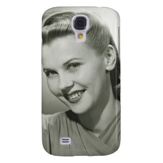 Woman Smiling 2 Galaxy S4 Case
