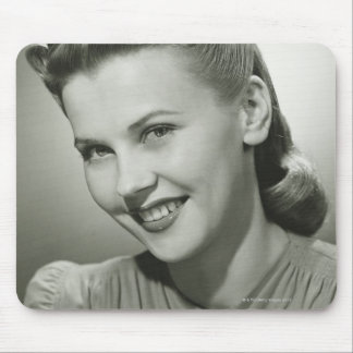 Woman Smiling 2 Mouse Mat