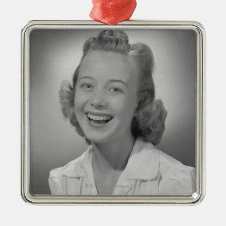 Woman Smiling Christmas Ornament
