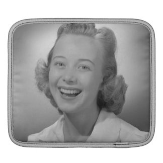 Woman Smiling iPad Sleeve