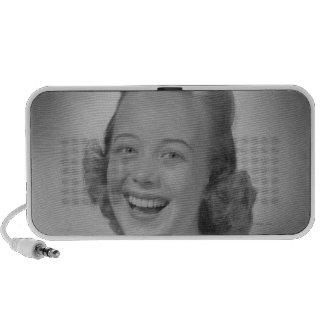 Woman Smiling Speaker System