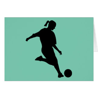 woman soccer greeting cards