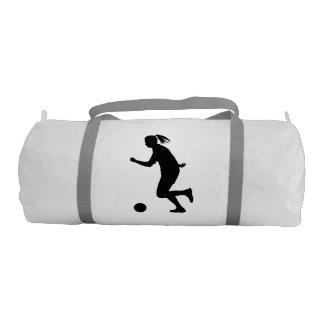 Woman Soccer Player Gym Duffel Bag