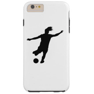 Woman Soccer Player Tough iPhone 6 Plus Case