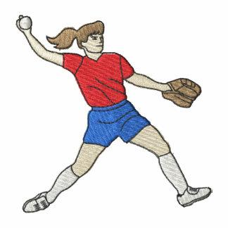 Woman Softball Player Polo Shirts